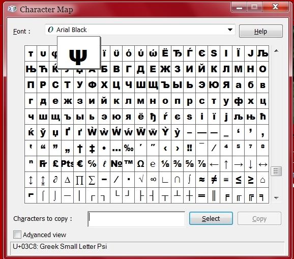 Char Map