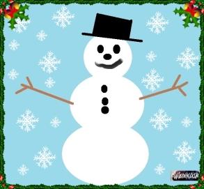 paint snowman snow